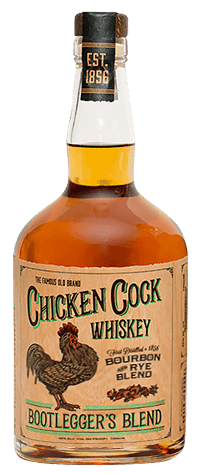 WHISKEY CHICKEN COCK BOOTLEGGERS BOURBON 45%