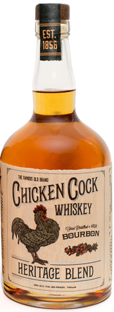 WHISKEY CHICKEN COCK HERITAGE BOURBON 45%
